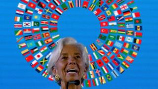 International Monetary Fund Managing (IMF) director Christine Lagarde addresses the media during a press conference at the International Monetary Fund (IMF) and World Bank annual meetings in Nusa Dua, on Indonesia's resort island of Bali on October 13, 2018.