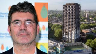 Simon Cowell and Grenfell Tower