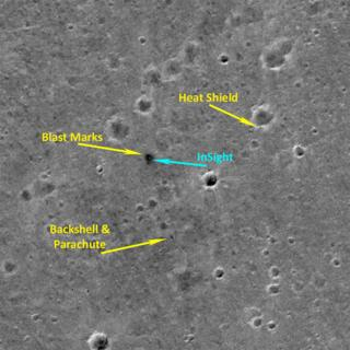 European satellite captures Nasa Mars lander from orbit
