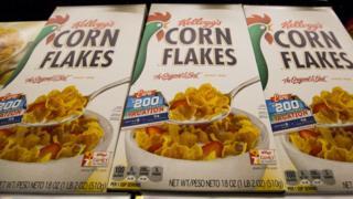 Boxes of Kellogg's Corn Flakes