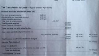 Leanne Wood's tax return for 2014/15 on Facebook