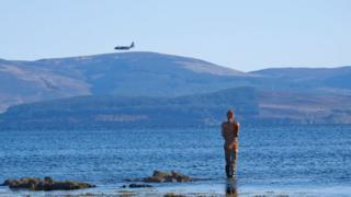 A view of Arran across the Kintyre Peninsula.