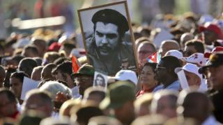 古巴民众纪念切·格瓦拉去世50周年