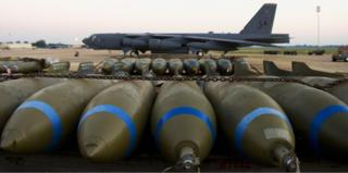 Bombs waiting to be loaded at Barksdale