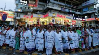 индийские женщины на демонстрации