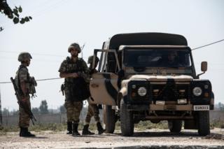 نیروهای ترکیه در شهر مرزی آقچه قلعه