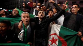Celebrations on the streets of Algiers