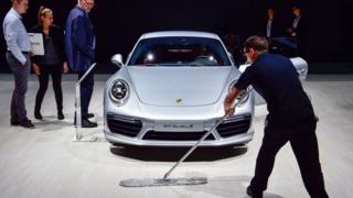 A Porsche on display