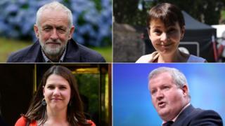 Jeremy Corbyn, Caroline Lucas, Ian Blackford, Jo Swinson