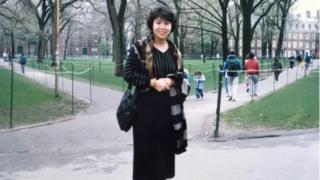 1990年4月,呂京花剛到美國後到哈佛大學演講
