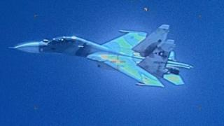 Photo released by US Southern Command showing a Venezuelan SU-30 Flanker on July 19
