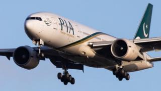 પાકિસ્તાની વિમાનની તસવીર