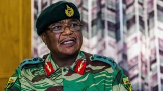 Constantino Chiwenga Commander of the Zimbabwe Defence Forces addresses a media conference held at the Zimbabwean Army Headquarters on November 13, 2017 in Harare