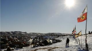A view across Oceti Sakowin Camp.