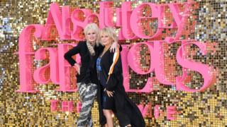 Joanna Lumley and Jennifer Saunders at the Absolutely Fabulous premiere