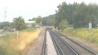 CCTV from the train driver's cab