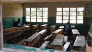Kenyan classroom during a strike