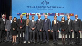 TPP協議簽署現場(04/02/2016)