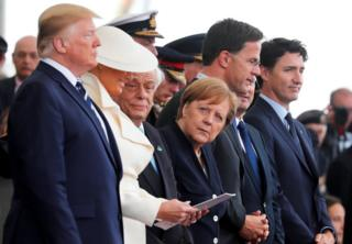 President Trump, First Lady Melania, German Chancellor Angela Merkel, Dutch Prime Minister Mark Rutte and Canada's Prime Minister Justin Trudeau.