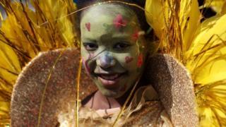 Reveller at Carnival