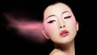 An image of a Chinese woman with makeup