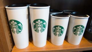 Copos da Starbucks