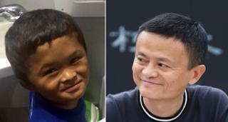 Fan Xiaoqin (left) and Jack Ma