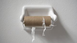 Boş tuvalet kağıdı