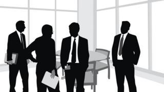 Ilustración de cuatro hombre