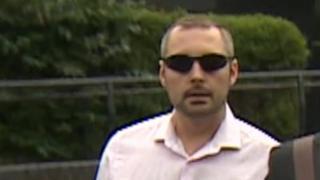 David Waller arriving at court