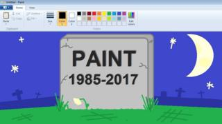 Paint gravestone drawn in Paint