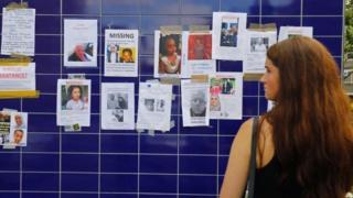 объявления с именами и фотографиями пропавших без вести