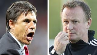 Wales manager Chris Coleman and Northern Ireland Michael O'Neill