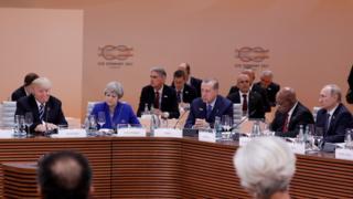 Hamburg'daki G20 Zirvesi'nden bir kare