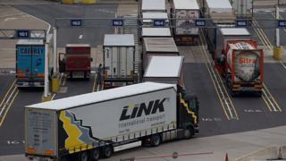 Lorries at Calais
