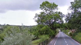 Road in Tansley