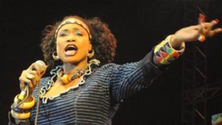 La chanteuse malienne Oumou Sangaré