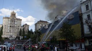 Пожежа у вівторок на Хрещатику