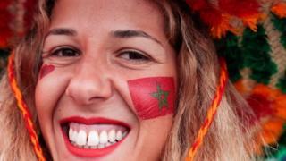 Une jeune supportrice du Maroc.
