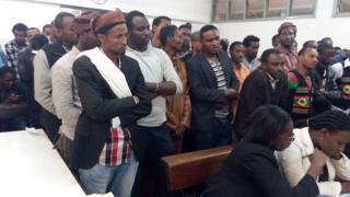 Raia wa Oromo waliokamatwa wakisherehekea siku ya Irecha Kenya
