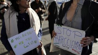 Марш против сексуальных домогательств в Марселе, октябрь 2017