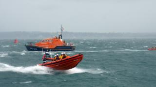 Portsmouth and Bembridge lifeboats at the Americas Cup