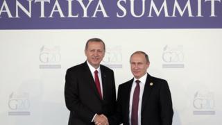 Cumhurbaşkanı Tayyip Erdoğan ve Rus lideri Vladimir Putin