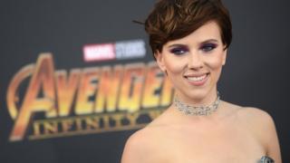 """Scarlett Johansson durante la premier de """"Vengadores: Infinity War"""""""