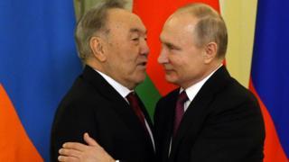 Путін та Назарбаєв