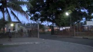 The entrance of the Buimo prison in Lae, Papua New Guinea, is seen in this still image taken from video 25 February 2016.