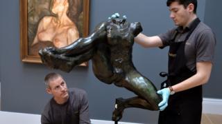 Rodin's Iris sculpture