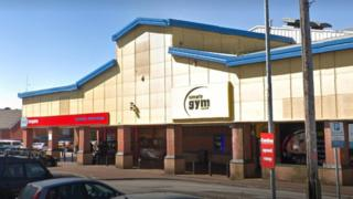Home Bargains and Simply Gym on Holt Road, Wrexham
