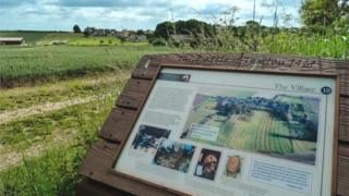 Information board near the battlefield