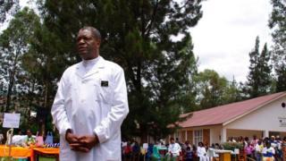 Docteur Denis Mukwege, dans son hôpital de Panzi